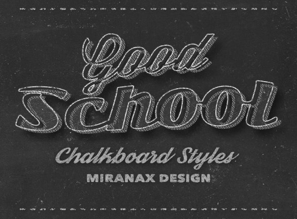 chalkboard styles fonts download