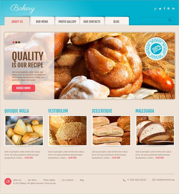 online delicious bakery wordpress theme 38