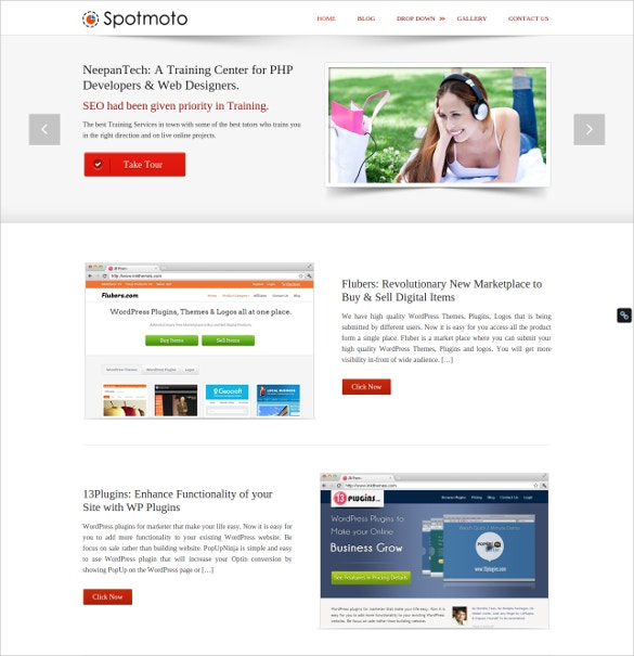 creative blog website template