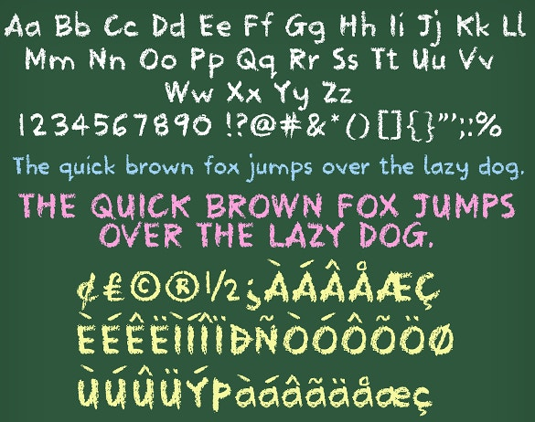 Chalkboard Fonts – 25+ Free TTF, OTF Format Download | Free