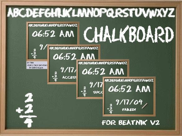 green chalkboard font download