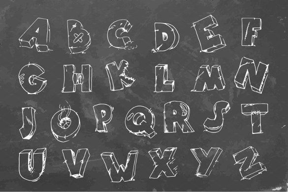 cracked font on chalkboard free download