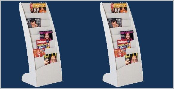 blue colored rack for brochures download