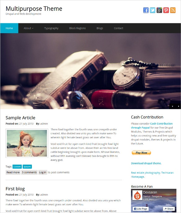 multipurpose drupal website theme