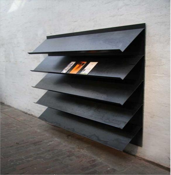 metal brochure display stand download