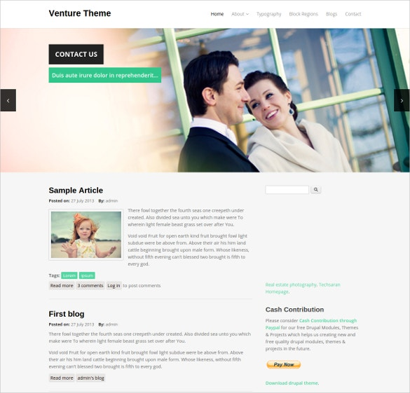 venture drupal website template