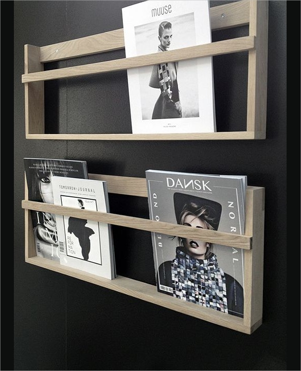 beautiful black colored brochure rack