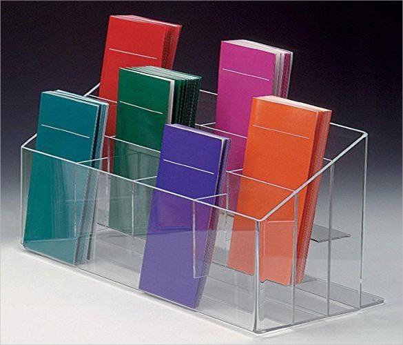 counter top brochure rack