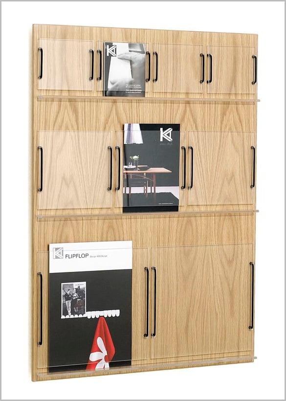 wall mounted brochure display rack