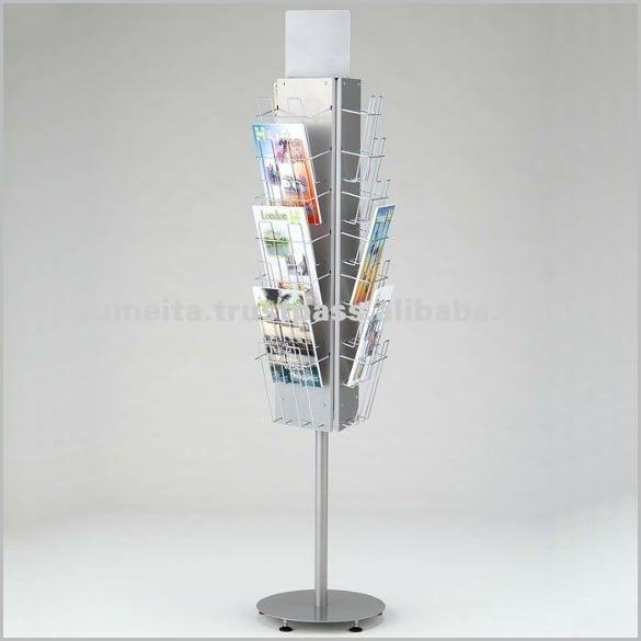 high quality brochure stand rotating display rack by hayashid