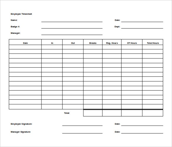 Free Microsoft Word Legal Timesheet Template Download