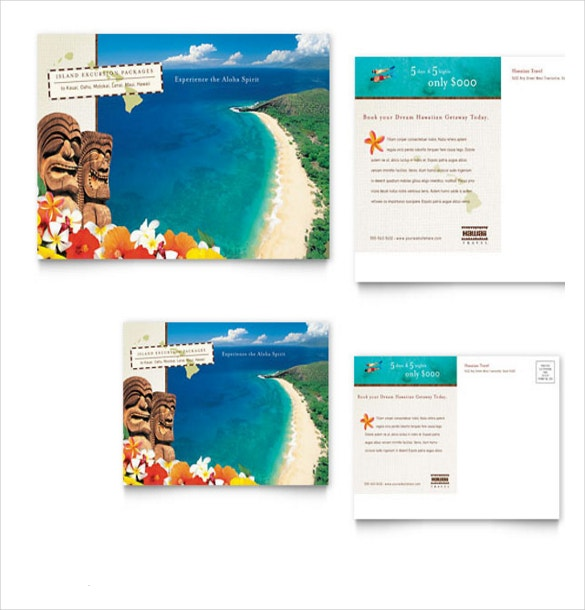 hawaii travel vacation brochure in ms word