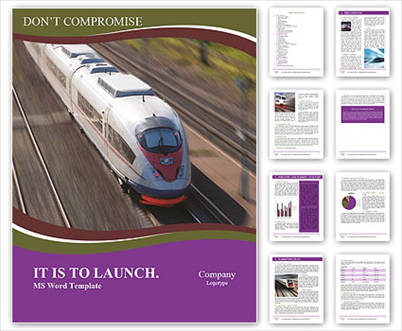 train travel brochure word document download
