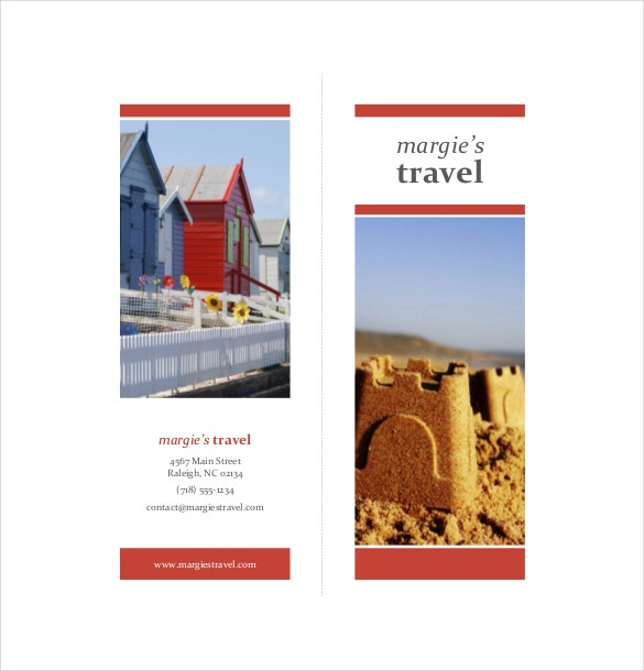 travel brochure word format