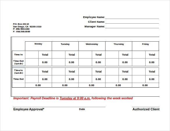 10 attorney timesheet templates free sample example format