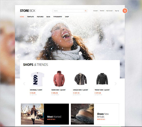 e commerce joomla website template