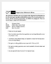 Business Informative Memo Template Sample Example Download