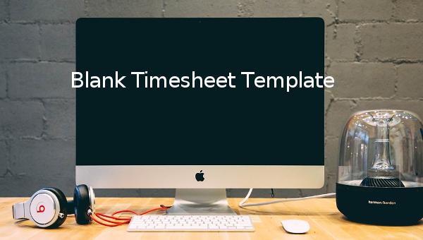 blank timesheet template
