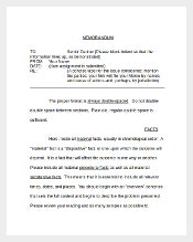Sample Example Format of Legal Memo Template