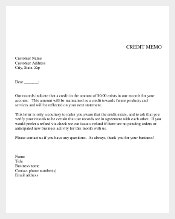 Credit Memo Template Free Example Download