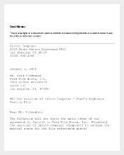 Sample Deal Memo Template Free Download