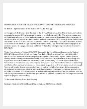 Memorandum for the Head of Executive Example Template