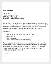 Sample Internal Memo Template Free Download