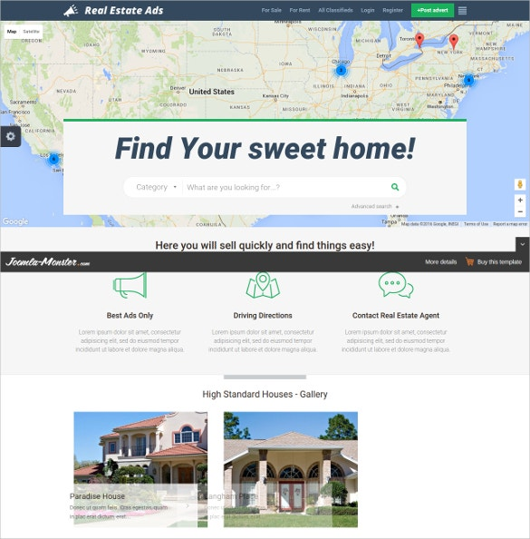 29 real estate joomla themes templates free premium for Real estate craigslist template