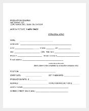 Crew Deal memo Template Document Download