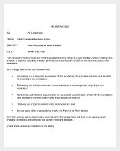 Sample Announcement Email Memo from Management