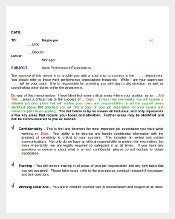 Sample Work Expectations Email Memo Template Download