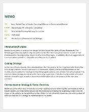 Communication Strategy Memo Template Example Format