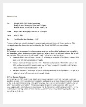 Proposed Evaluation Strategy Memo Template Free Download