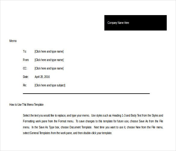 Memo Templates Microsoft Word  Free Download  Free