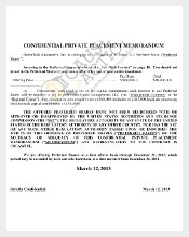 Private Place Confidential Agreement Memorandam Example Format
