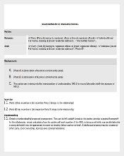 Word Document to Download Memorandum of Understanding