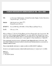 Human Resources Formal Memorandum Template Sample Format
