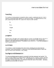 Sample Formal Memorandum Format Free Download