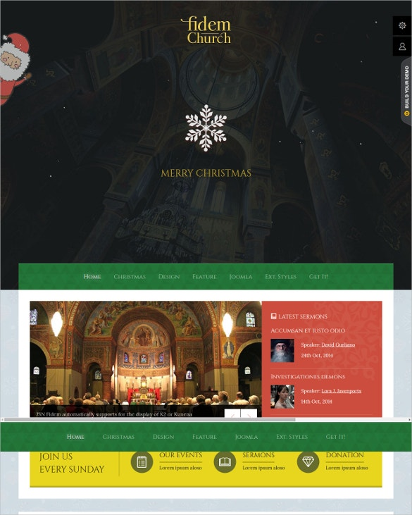 spirit church joomla template