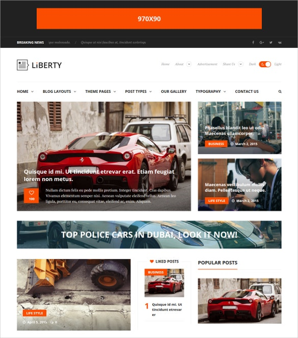 modern news magazine blog wordpress theme 49