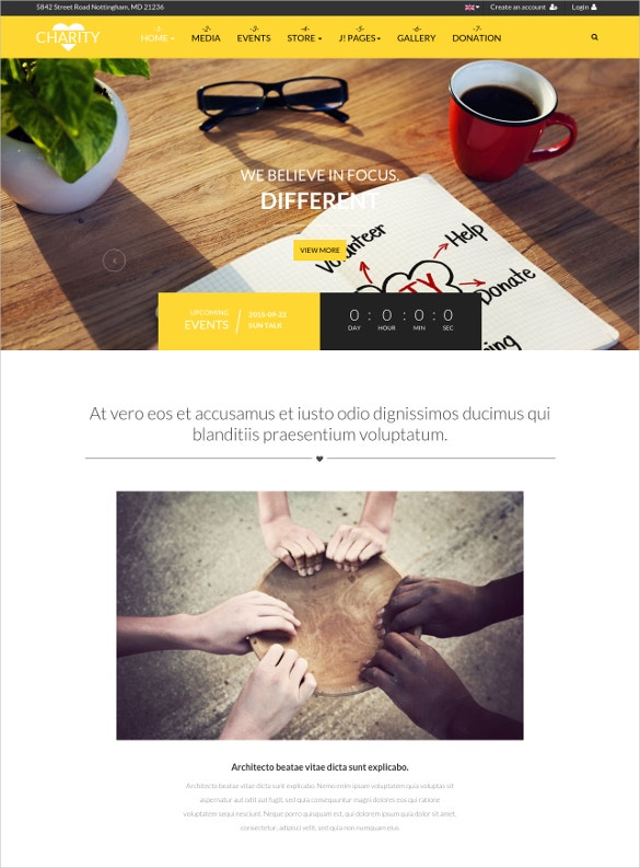 church charity joomla website template