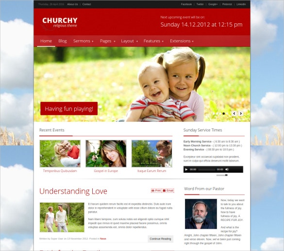 Church Joomla Templates 24+ Church Joomla Themes & Templates | Free & Premium Templates