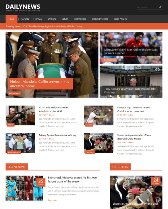 28+ News Websites Joomla Themes & Templates | Free & Premium Templates