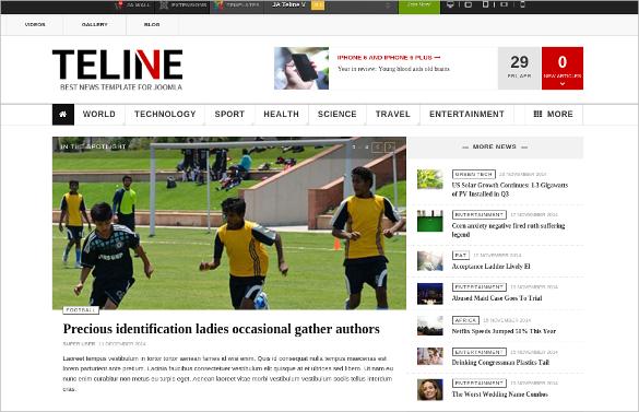 timeline news joomla wesite template