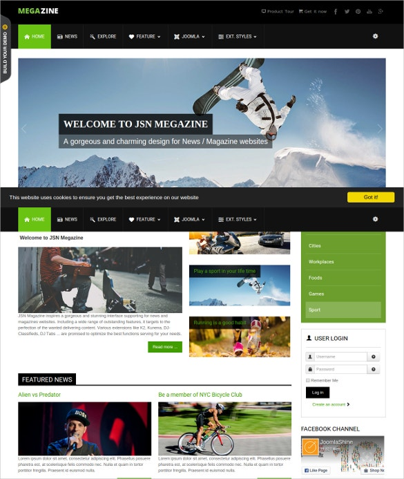 news magazine joomal website template