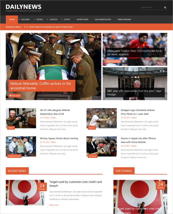 joomla news magazine website template