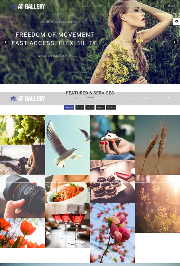 photography joomla website template