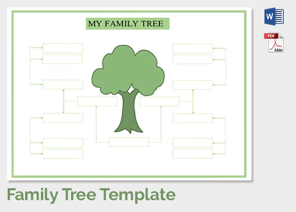 Family Tree Template - 37+ Free Printable Word, Excel, Pdf, Psd