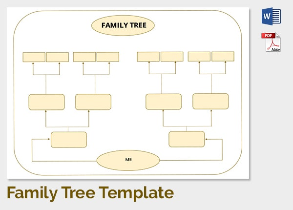 Family tree template 37 free printable word excel pdf for Fill in the blank family tree template