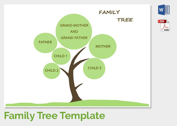Family Tree Template 37 Free Printable Word Excel PDF PSD – Blank Family Tree Template